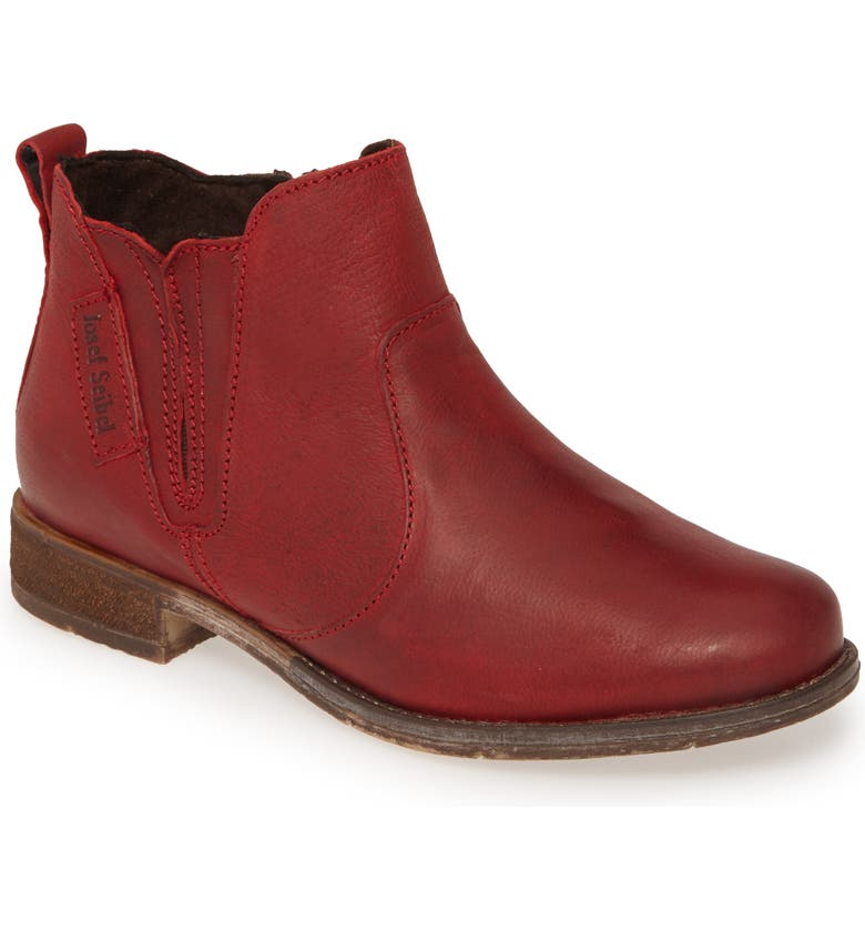 JOSEF SEIBEL Sienna 45 Chelsea Bootie, Main, color, RED LEATHER