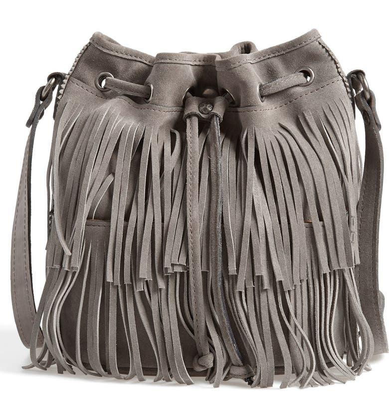 PATRICIA NASH 'Bronte' Fringe Bucket Bag, Main, color, 020