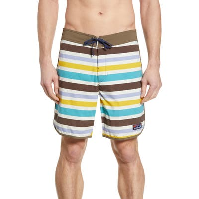 Patagonia Wavefarer Swim Trunks, White