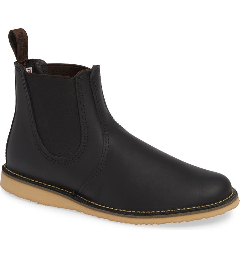RED WING Chelsea Boot, Main, color, BLACK HARNESS LEATHER
