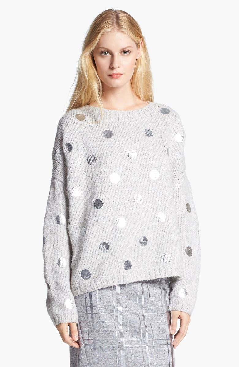 ELIZABETH AND JAMES Foil Dot Sweater, Main, color, 052