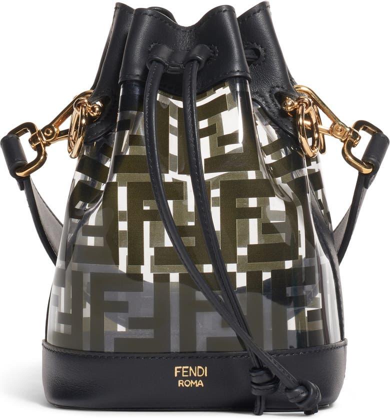 FENDI Mini Mon Tresor Transparent Bucket Bag, Main, color, 006