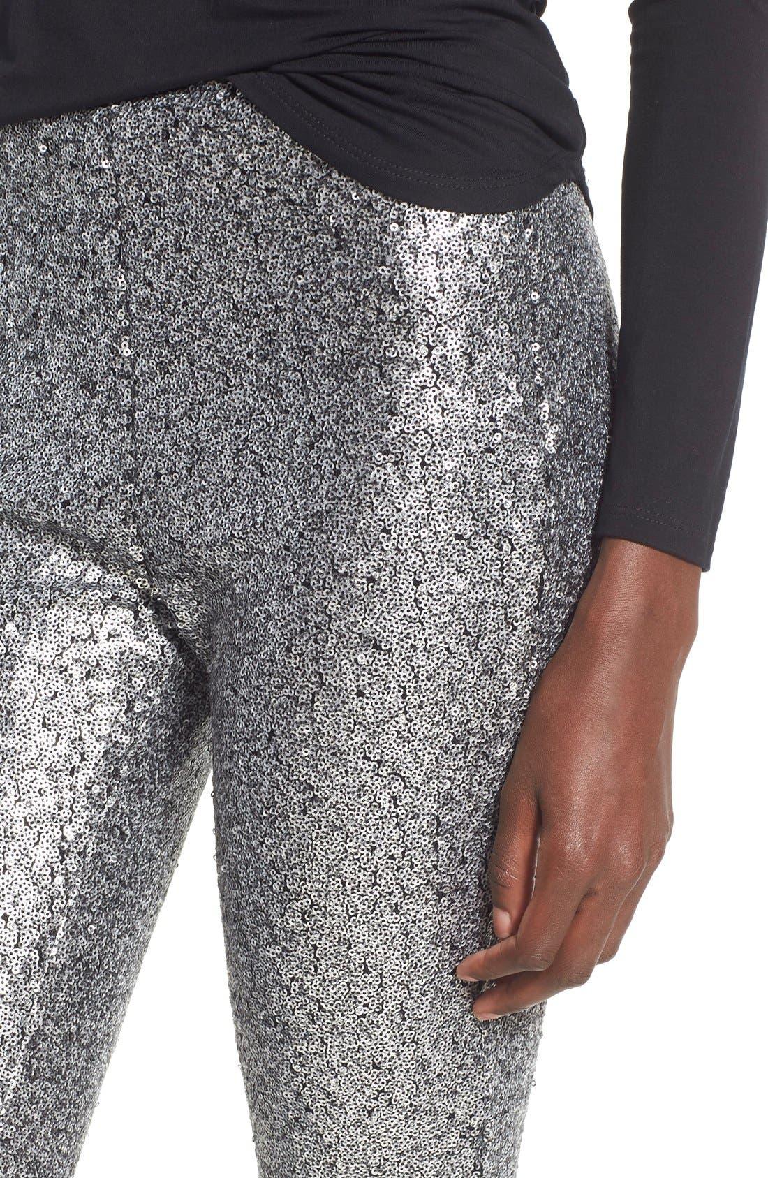 ,                             'Shasta' Sequin Leggings,                             Alternate thumbnail 4, color,                             040