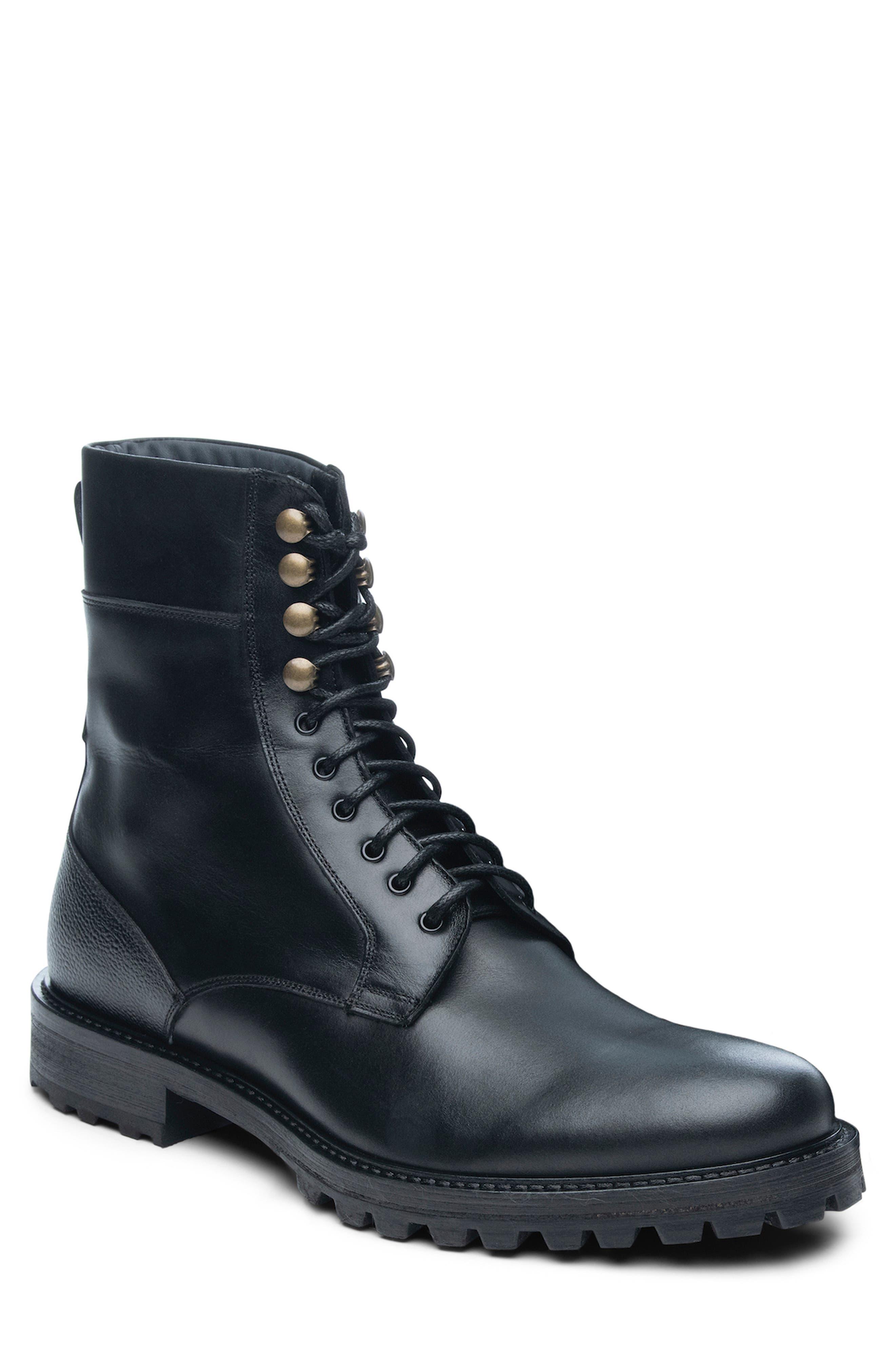 ANKARI-FLORUSS Plain Toe Combat Boot