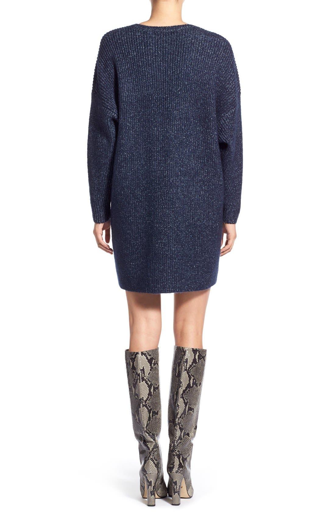 ,                             V-Neck Sweater Minidress,                             Alternate thumbnail 6, color,                             461