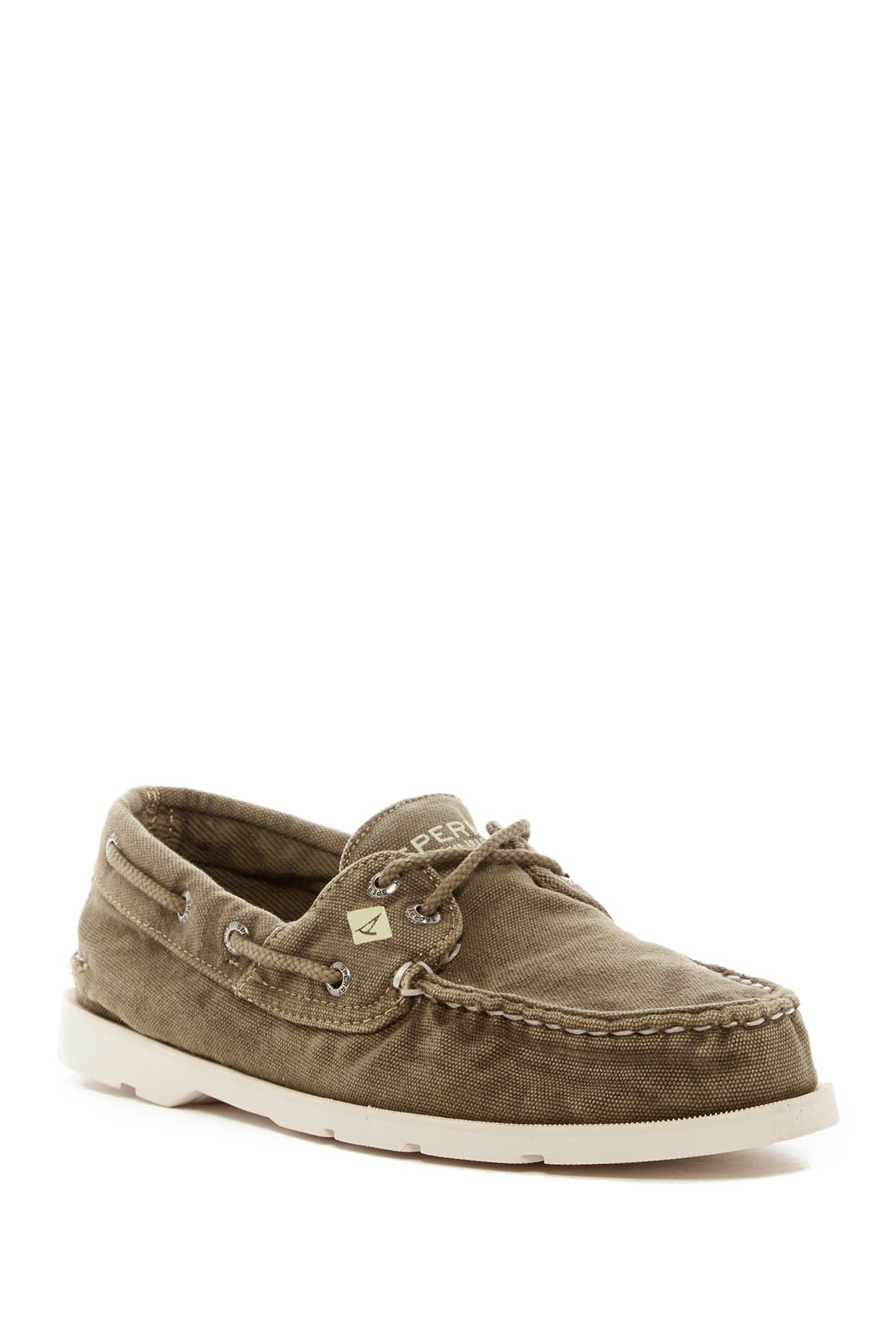 Image of Sperry Leeward Washed Canvas Boat Shoe