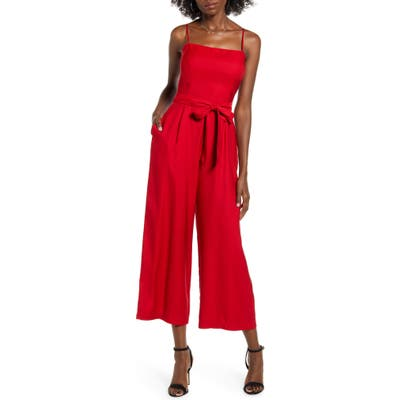 Leith Open Back Jumpsuit, Red