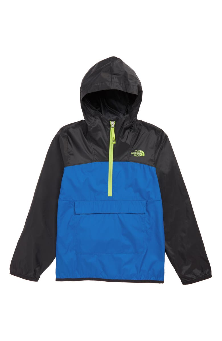 THE NORTH FACE Fanorak Water Repellent Hooded Windbreaker, Main, color, TURKISH SEA