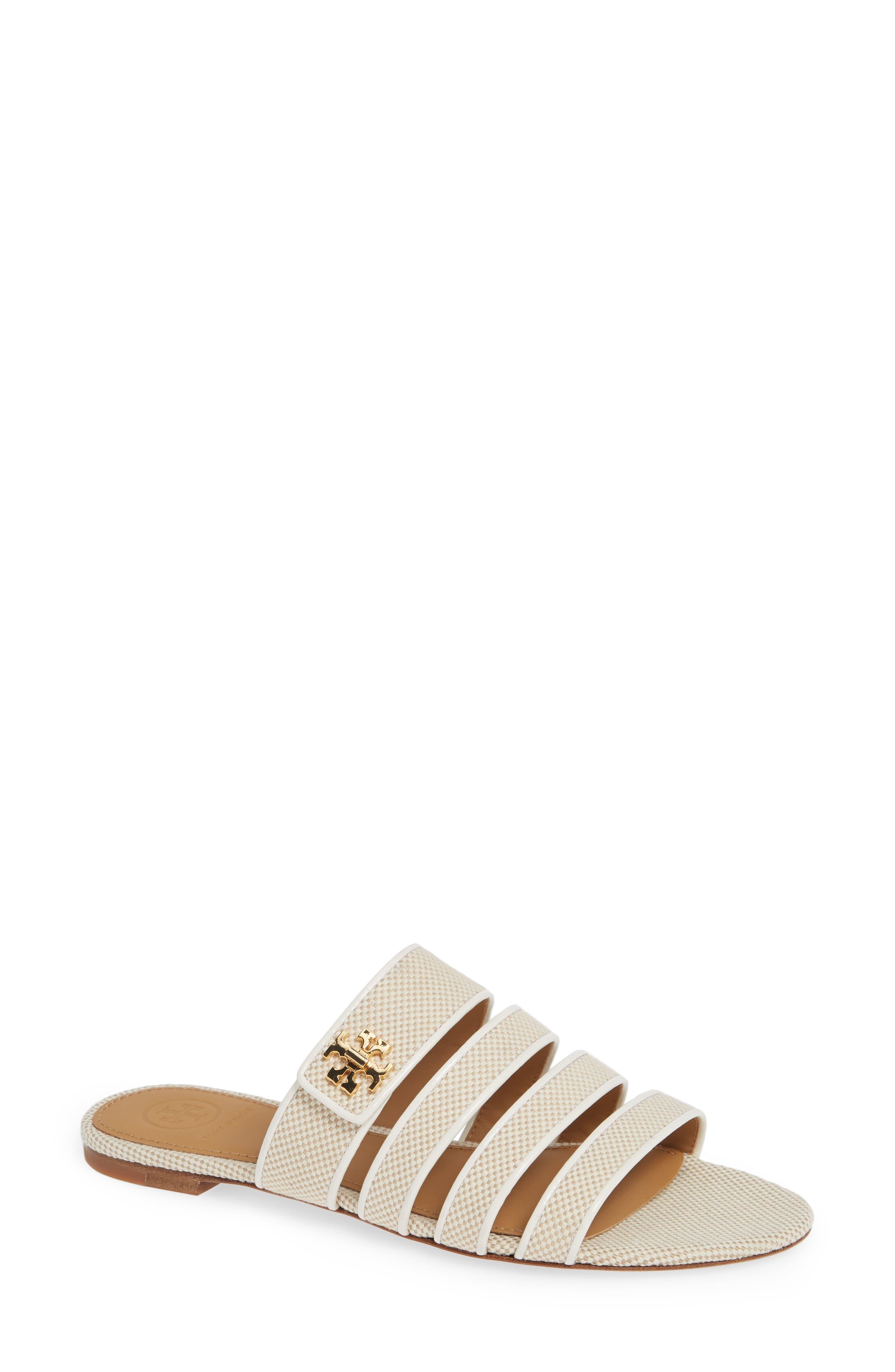 Tory Burch Kira Strappy Slide Sandal, Beige