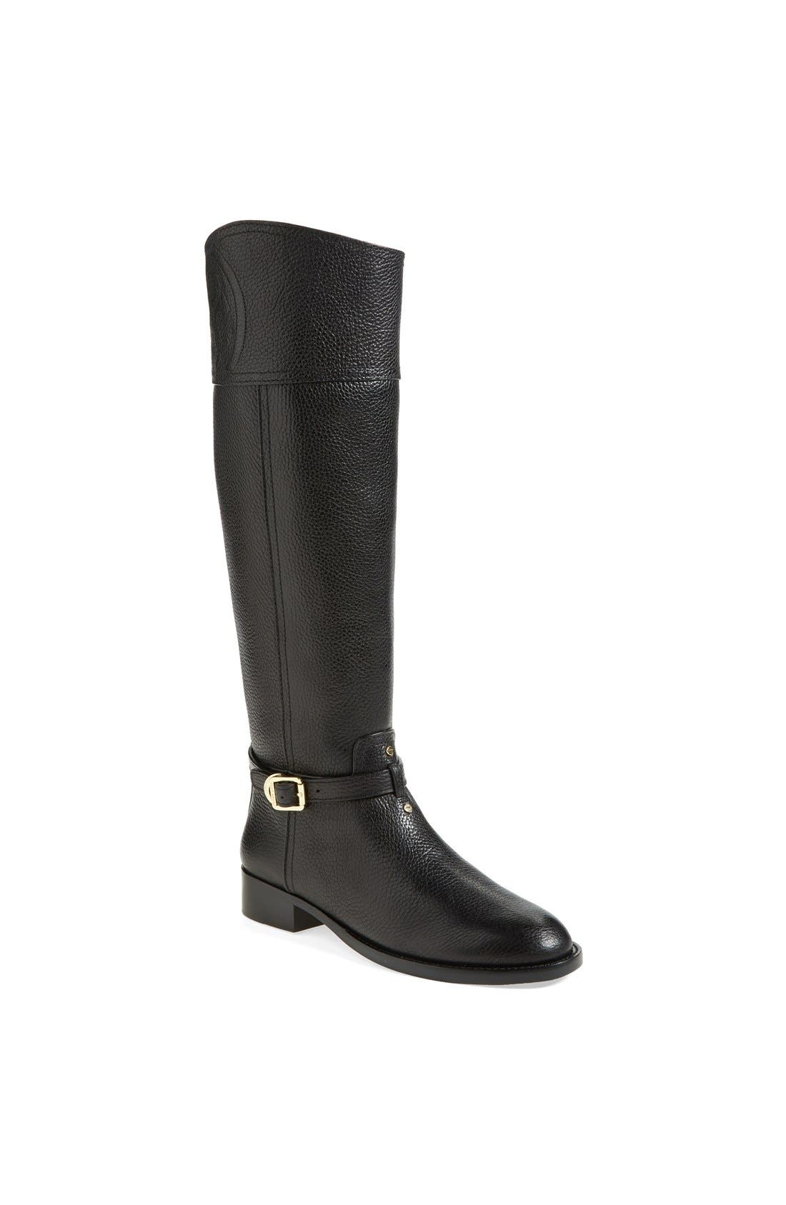 'Marlene' Leather Riding Boot, Main, color, 001