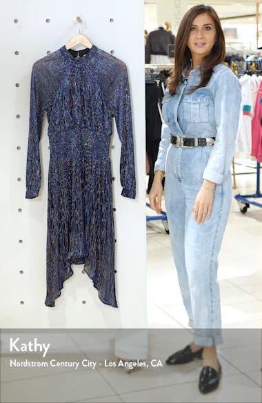Tazanna Shimmer Stripe Long Sleeve Cocktail Dress, sales video thumbnail
