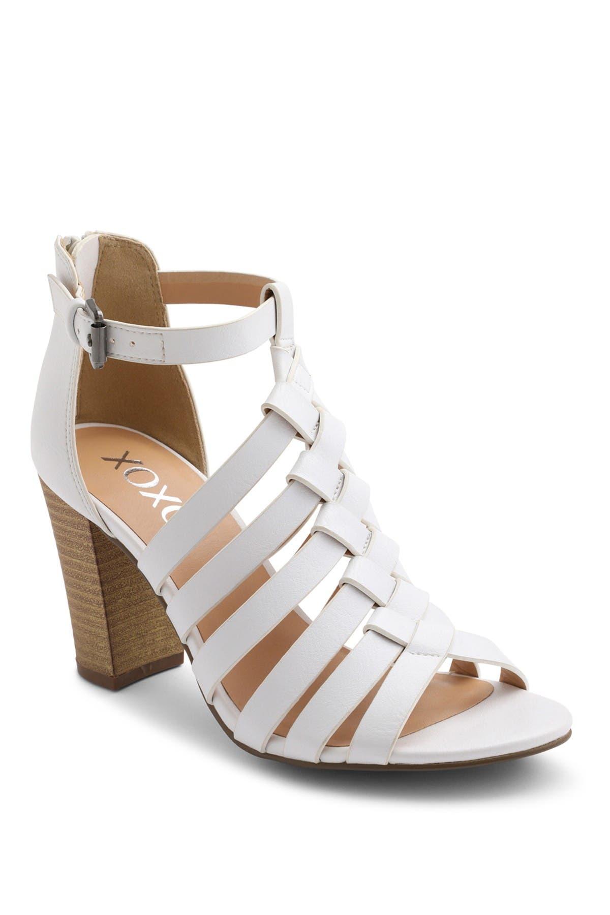 XOXO   Baxter Strappy Block Heel Sandal