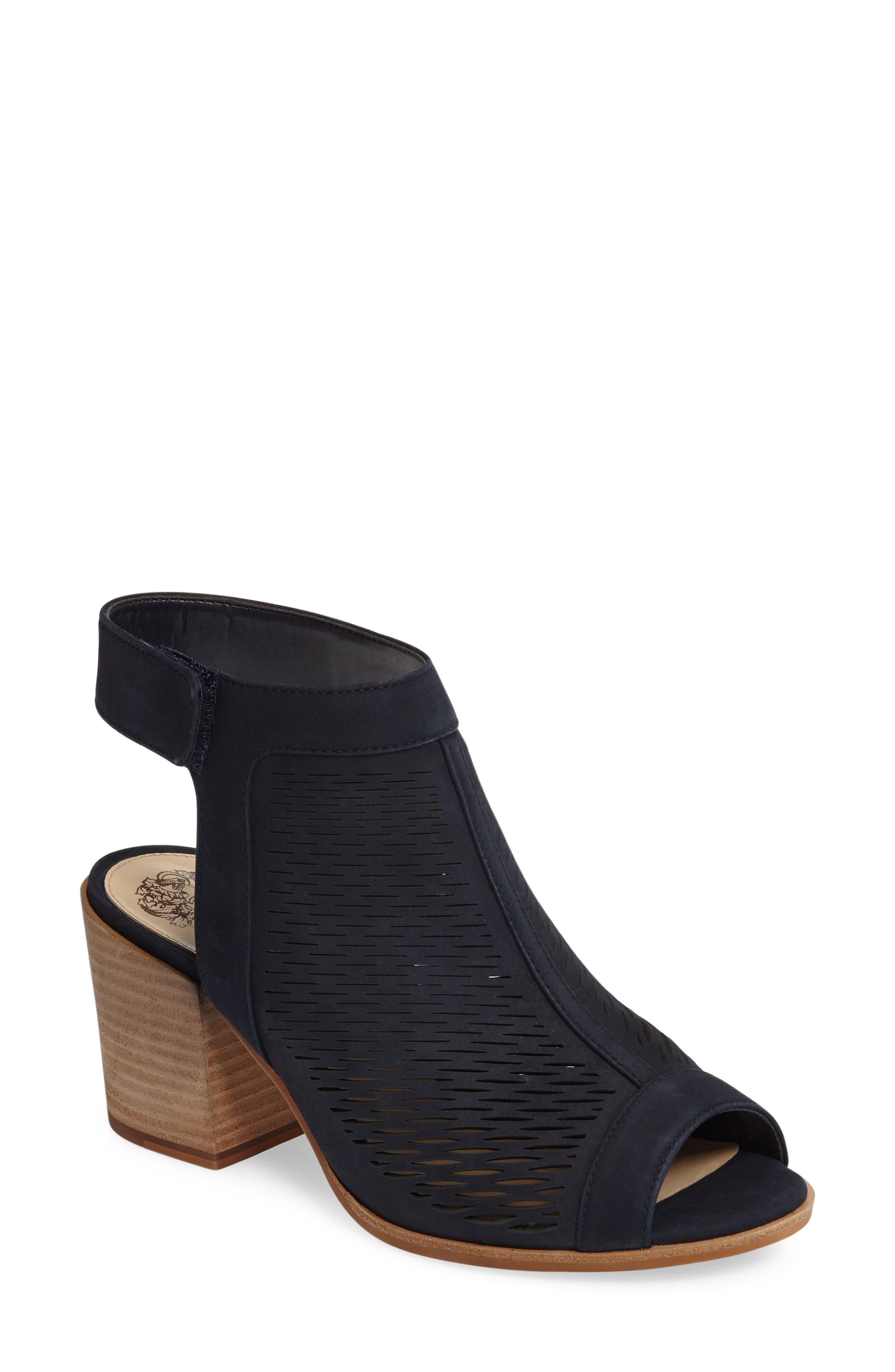 Image of Vince Camuto Lavette Perforated Peep Toe Bootie