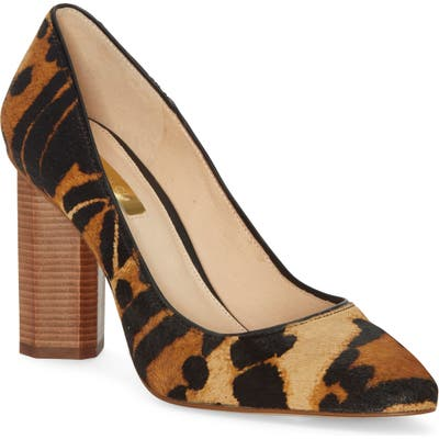 Louise Et Cie Landon Genuine Calf Hair Pump- Brown