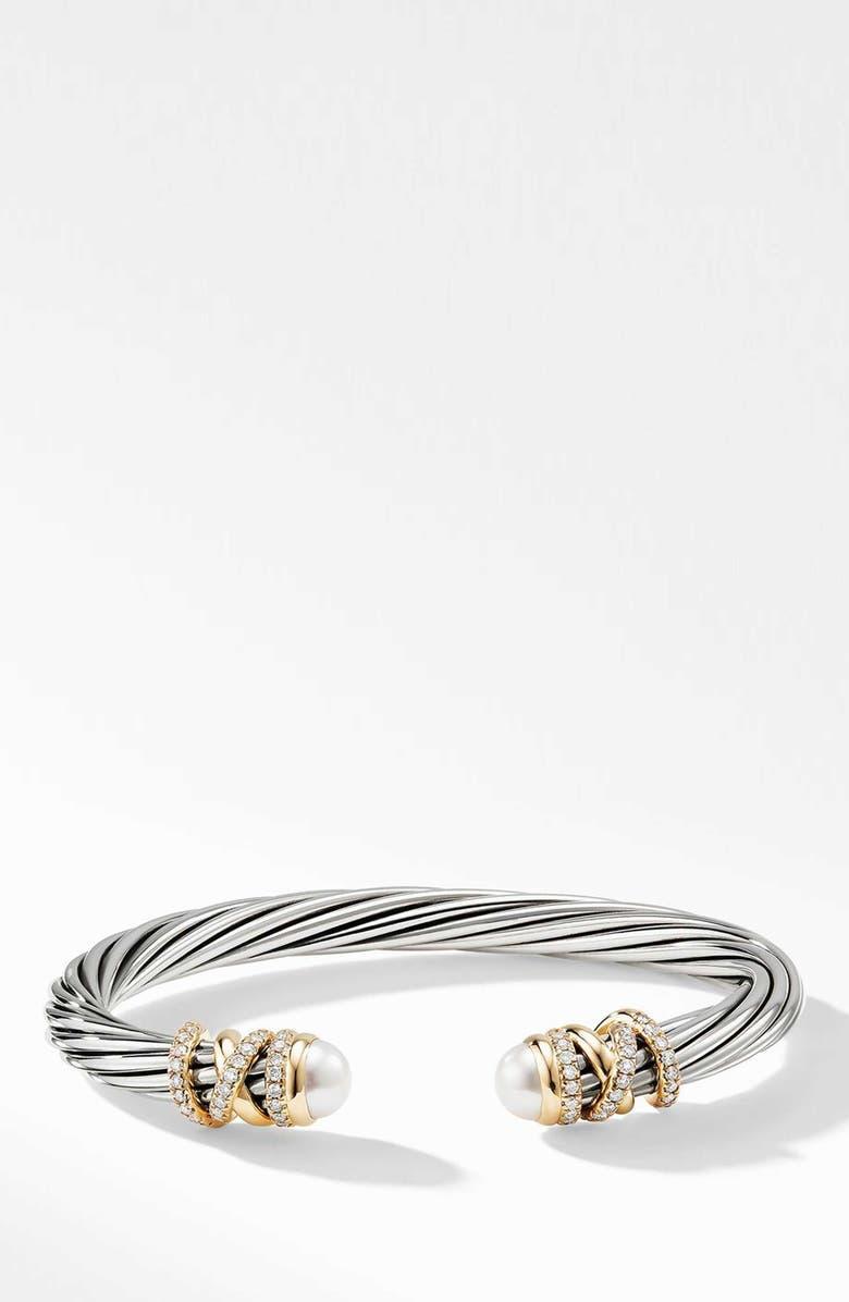 DAVID YURMAN Helena Bracelet with Diamonds, Main, color, GOLD/ SILVER/ PEARL