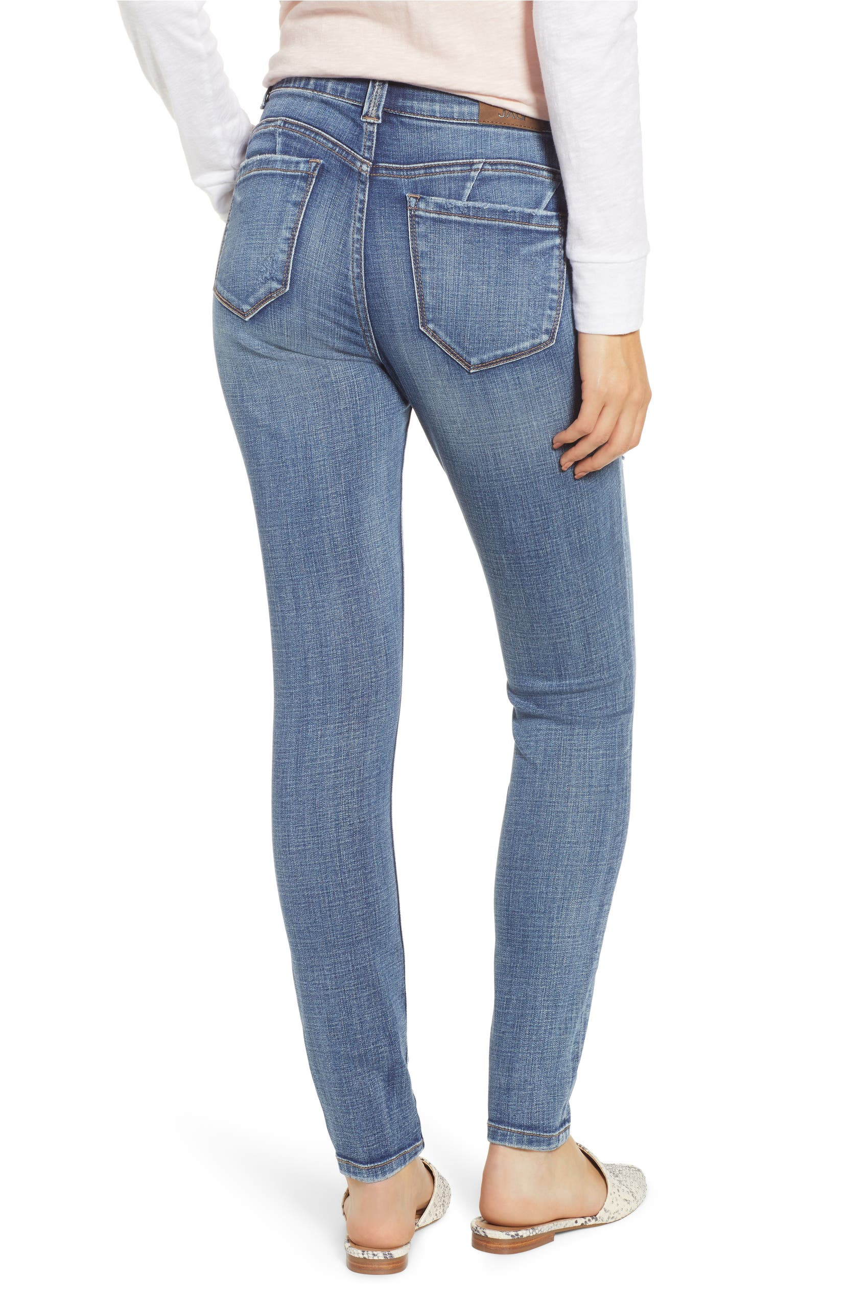 fb074e271b4 Jag Jeans Cecilia Distressed Skinny Jeans (Mid Vintage)   Nordstrom