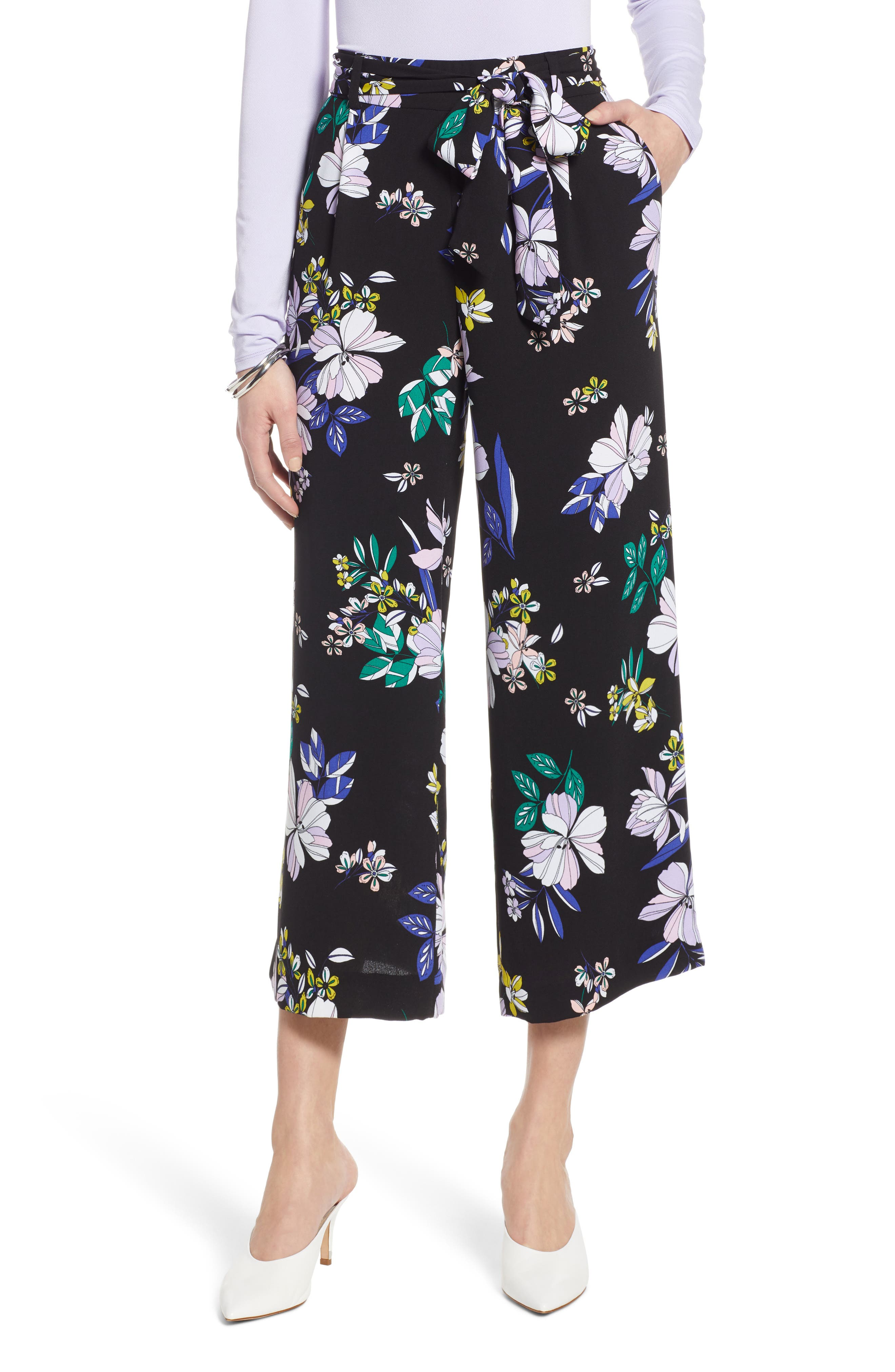 ,                             Wide Leg Crop Pants,                             Main thumbnail 14, color,                             005