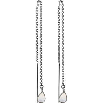 Adornia Moonstone Threader Earrings