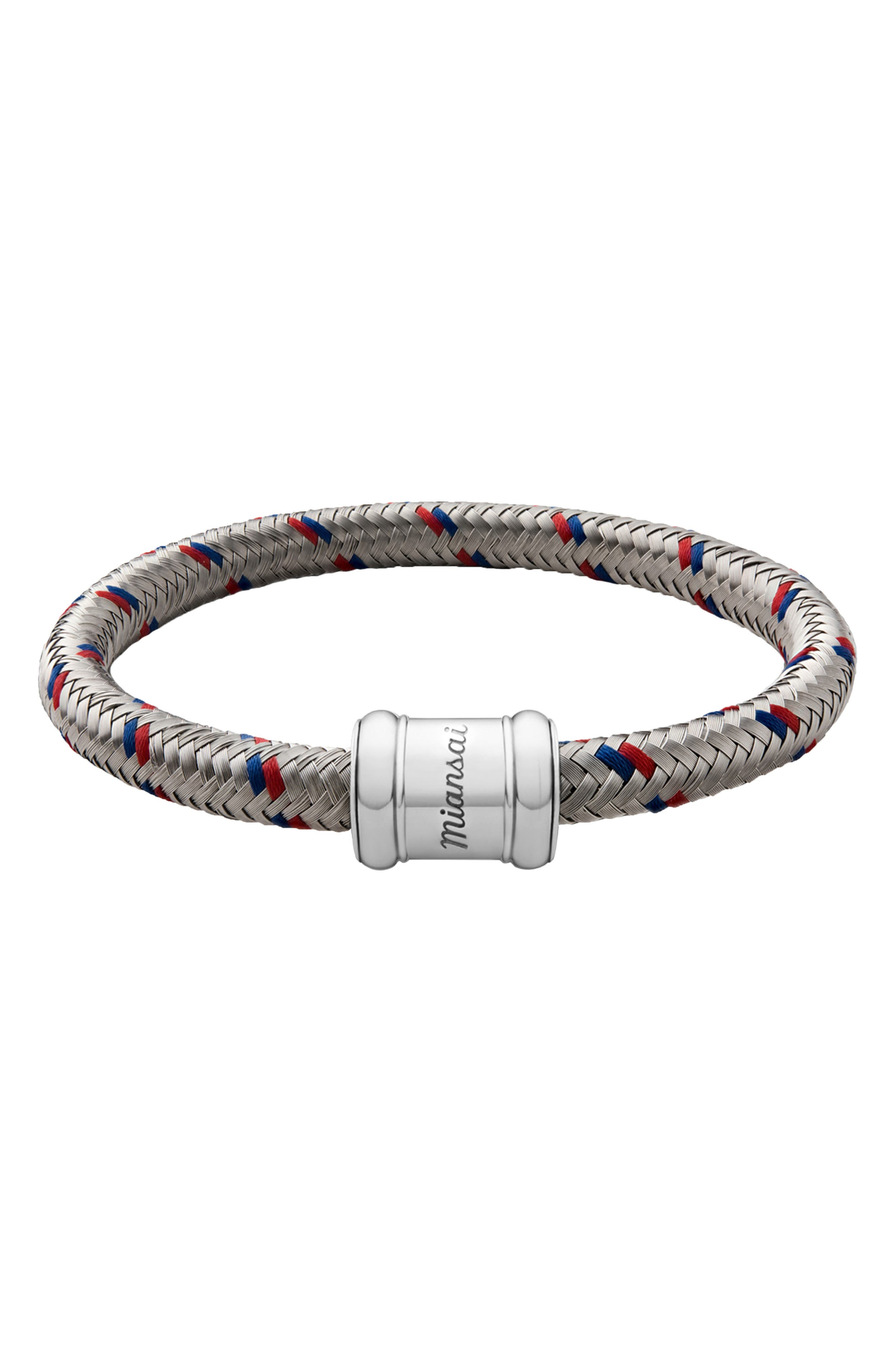 Rope Bracelet, Main, color, RED/ BLUE