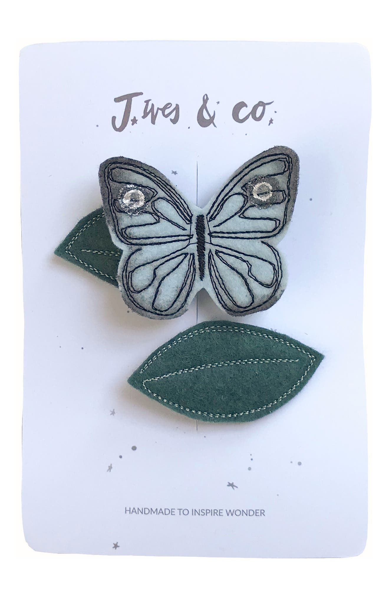 Baby Jives  Co Butterfly 2Pack Hair Clips Size One Size  Blue