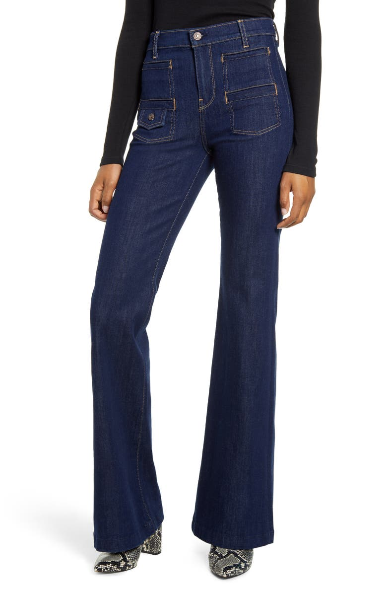 7 FOR ALL MANKIND<SUP>®</SUP> Georgia Flare Jeans, Main, color, UPTOWN RINSE