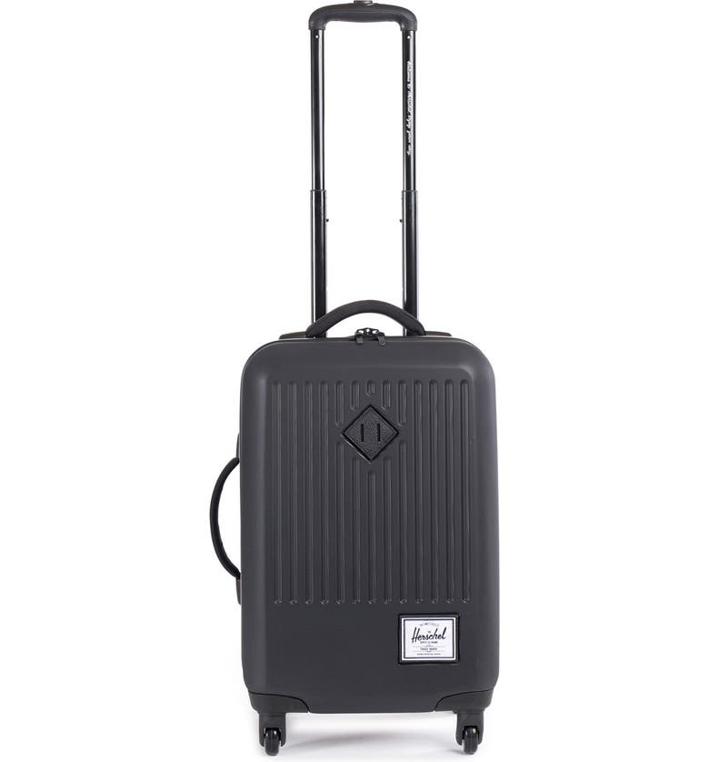 HERSCHEL SUPPLY CO. 'Trade - Small' Rolling Hard Shell Suitcase, Main, color, 010