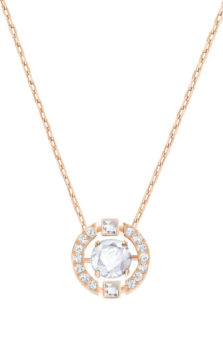 SWAROVSKI Dancing Crystal Pendant Necklace, Main, color, 040
