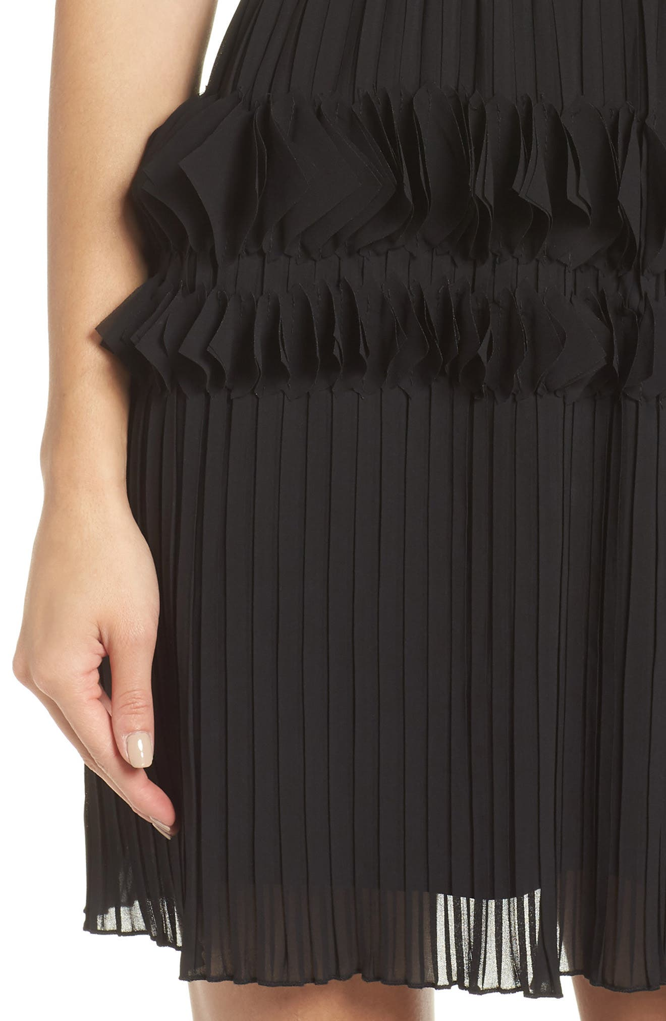 ,                             Love Ruffle Dress,                             Alternate thumbnail 5, color,                             BLACK