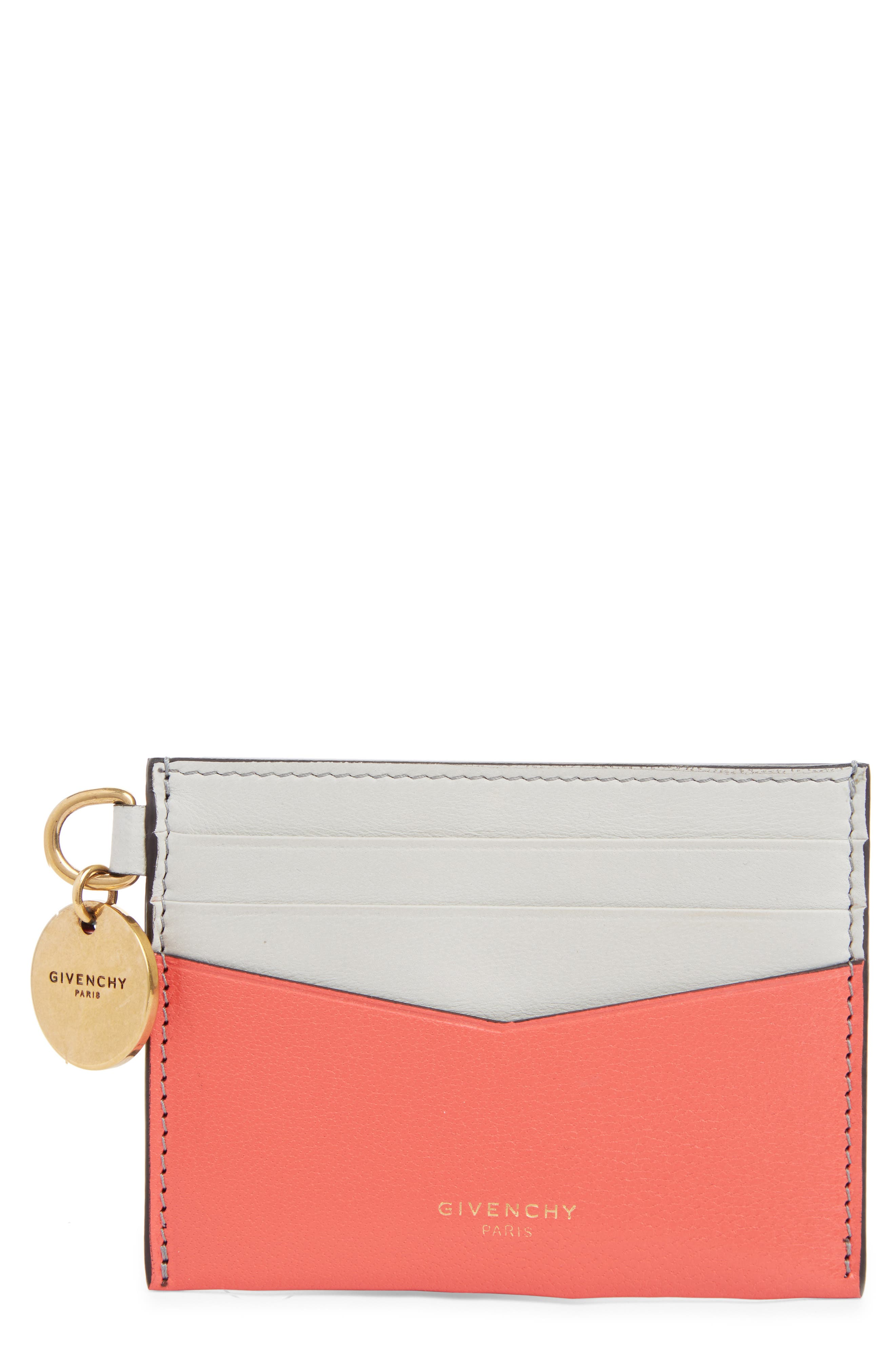Givenchy Bicolor Leather Card Case   Nordstrom