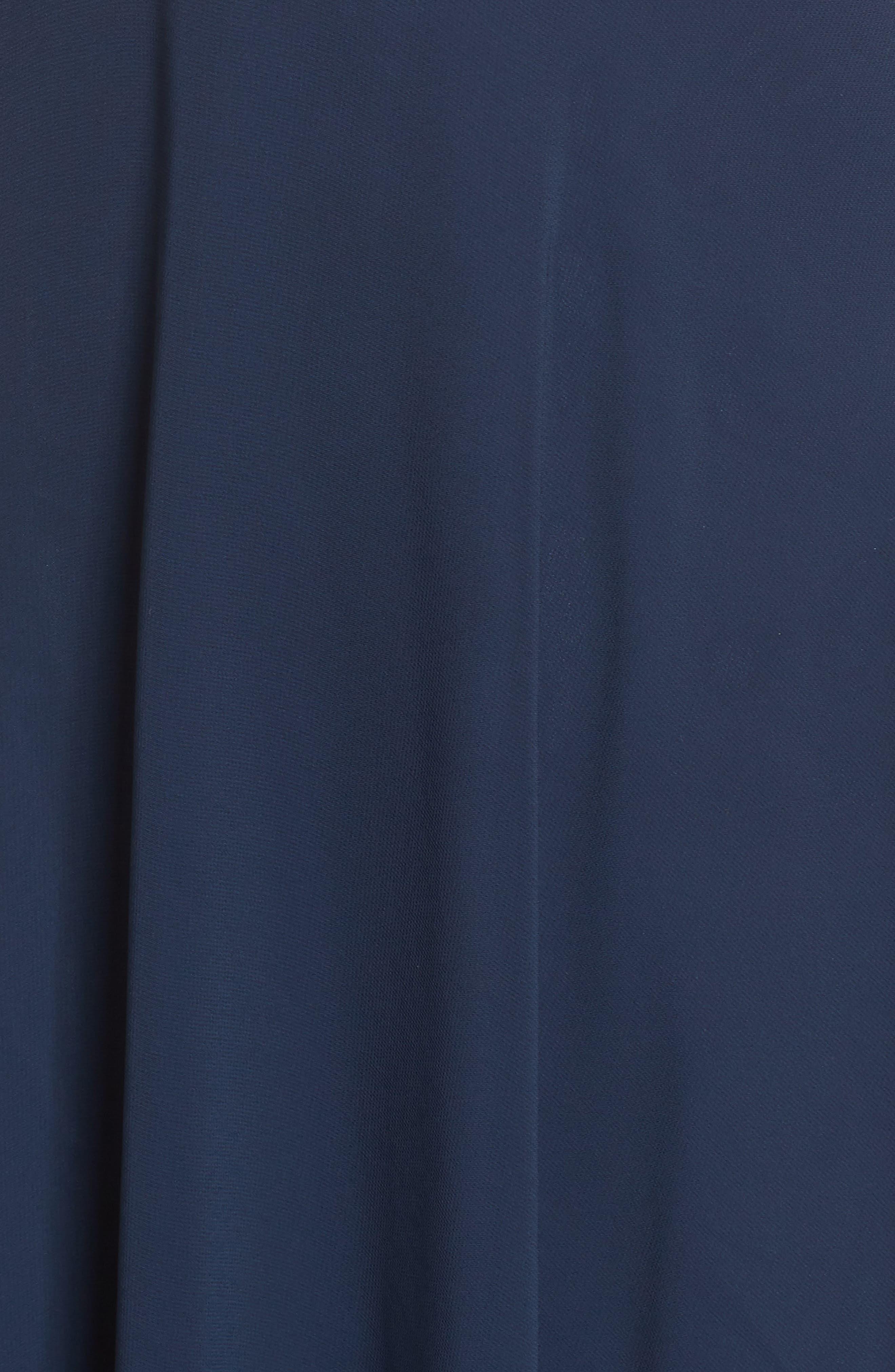 ,                             Halle Halter Evening Dress,                             Alternate thumbnail 6, color,                             NAVY
