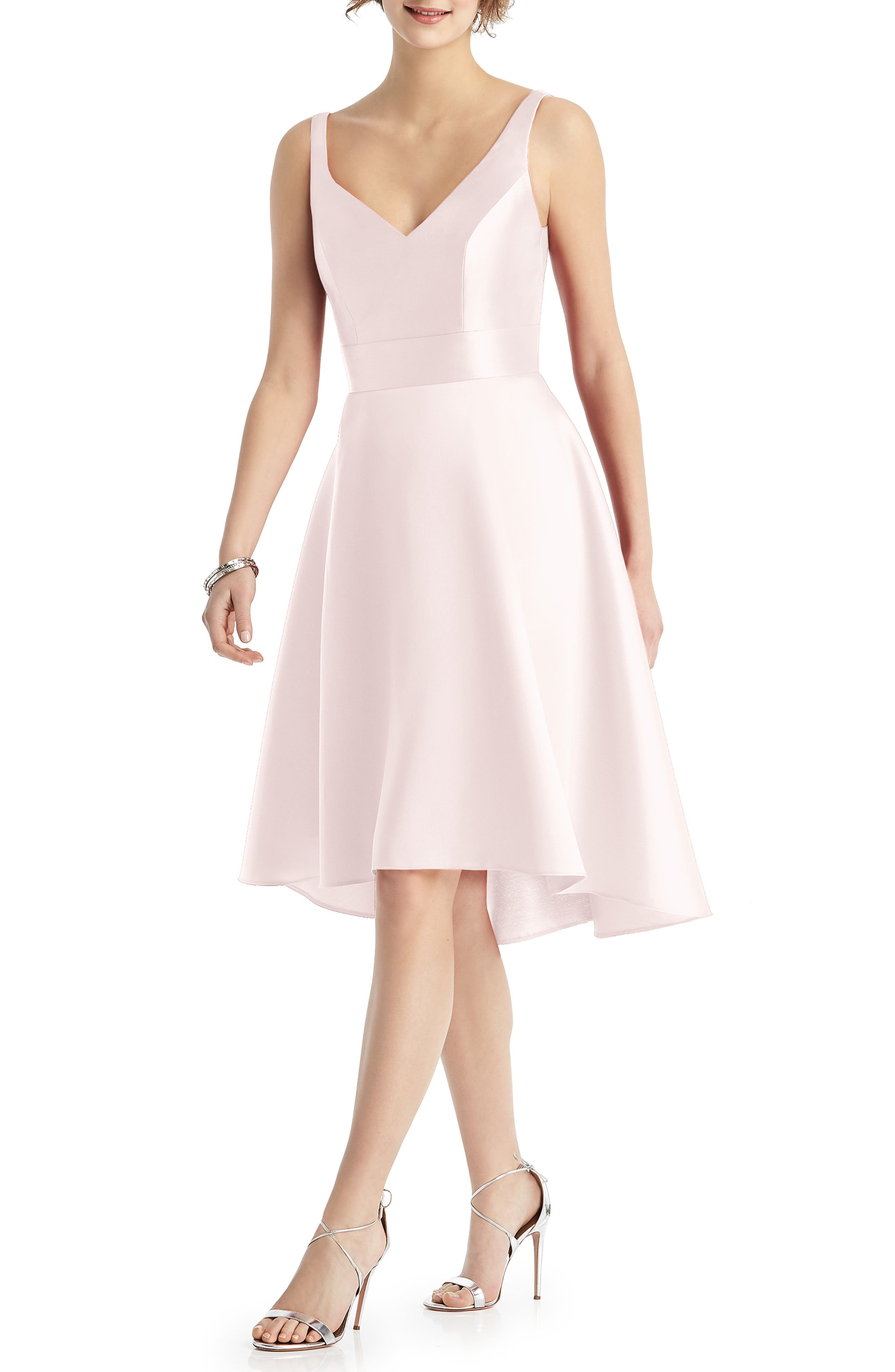 Alfred Sung Sweetheart Neck Sleeveless Cocktail Dress, Pink
