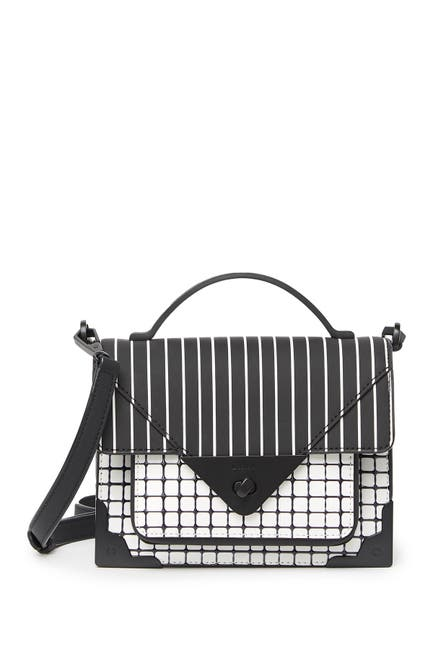 Image of DKNY Jaxone Printed Leather Crossbody Bag