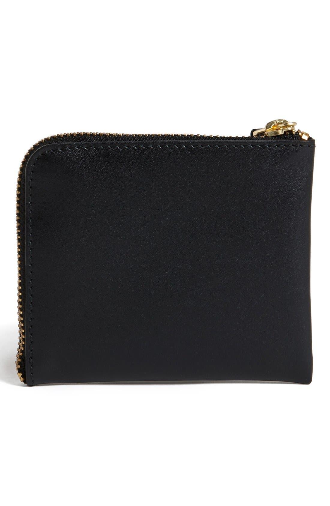 ,                             Half-Zip Leather Wallet,                             Alternate thumbnail 6, color,                             001