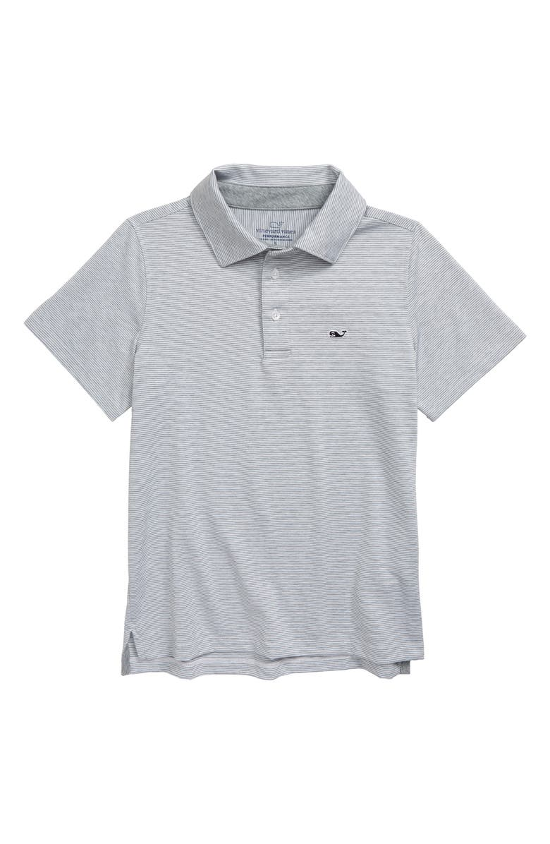VINEYARD VINES Destin Sankaty Stripe Polo, Main, color, WHITE CAP
