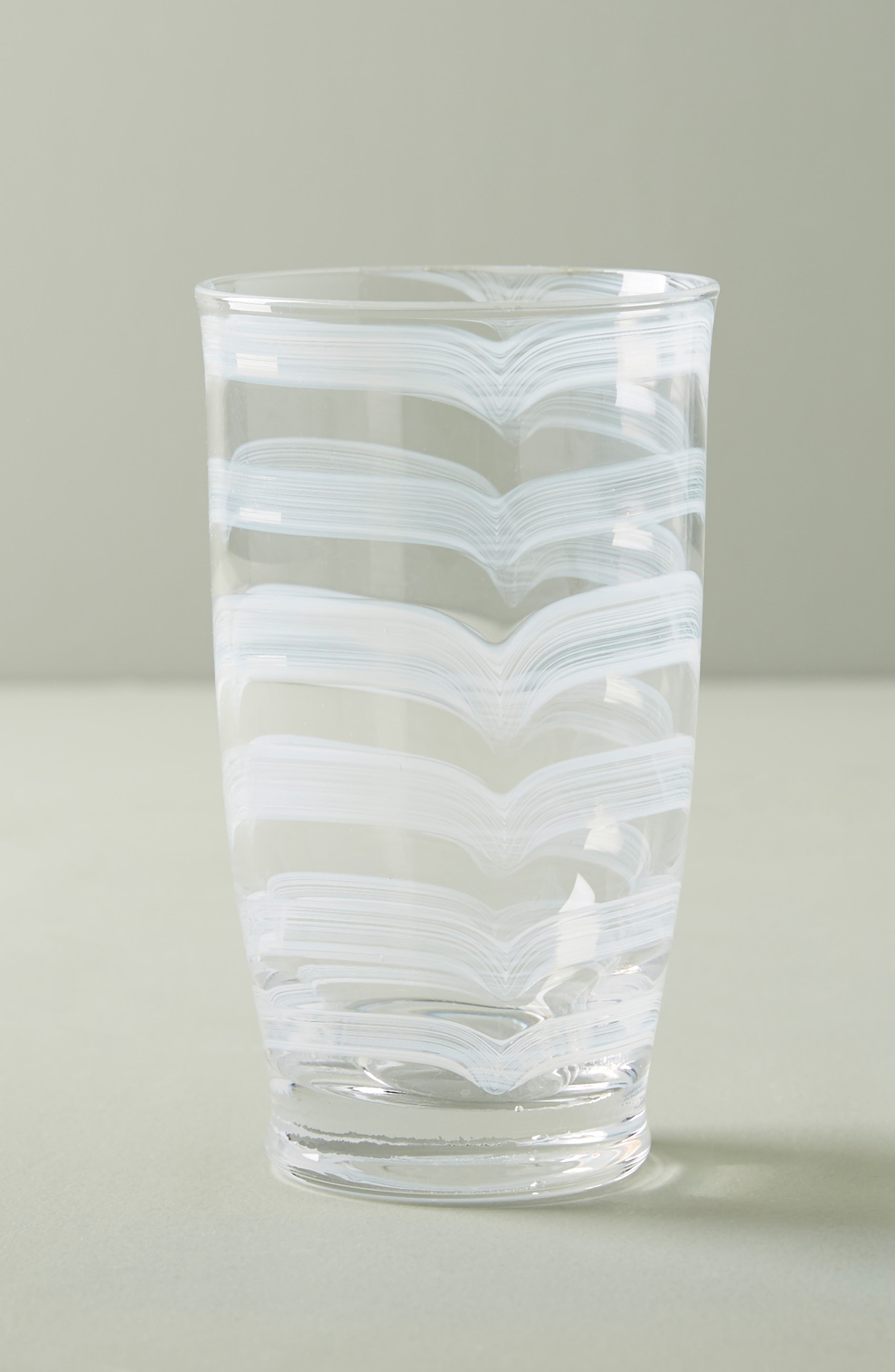 Lottie Set of 4 Highball Glasses, Main, color, WHITE