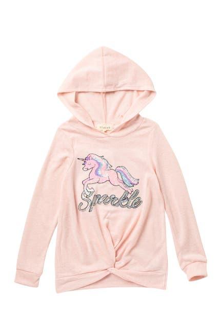 Image of Btween Unicorn Sequin Hacci Pullover Hoodie