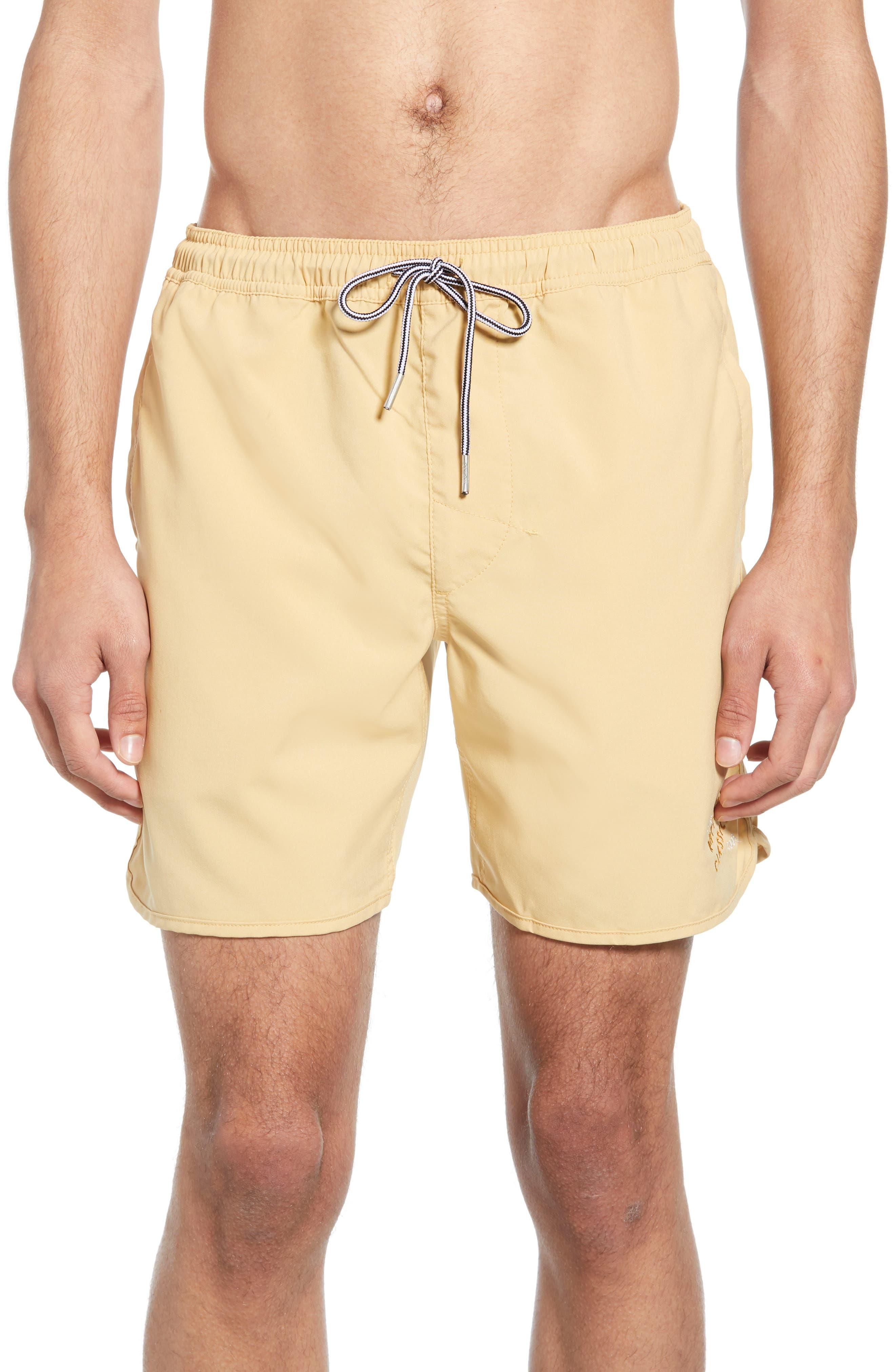 Rhythm Black Label Board Shorts, Yellow