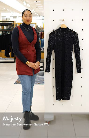 Long Sleeve Lace Sheath Dress, sales video thumbnail