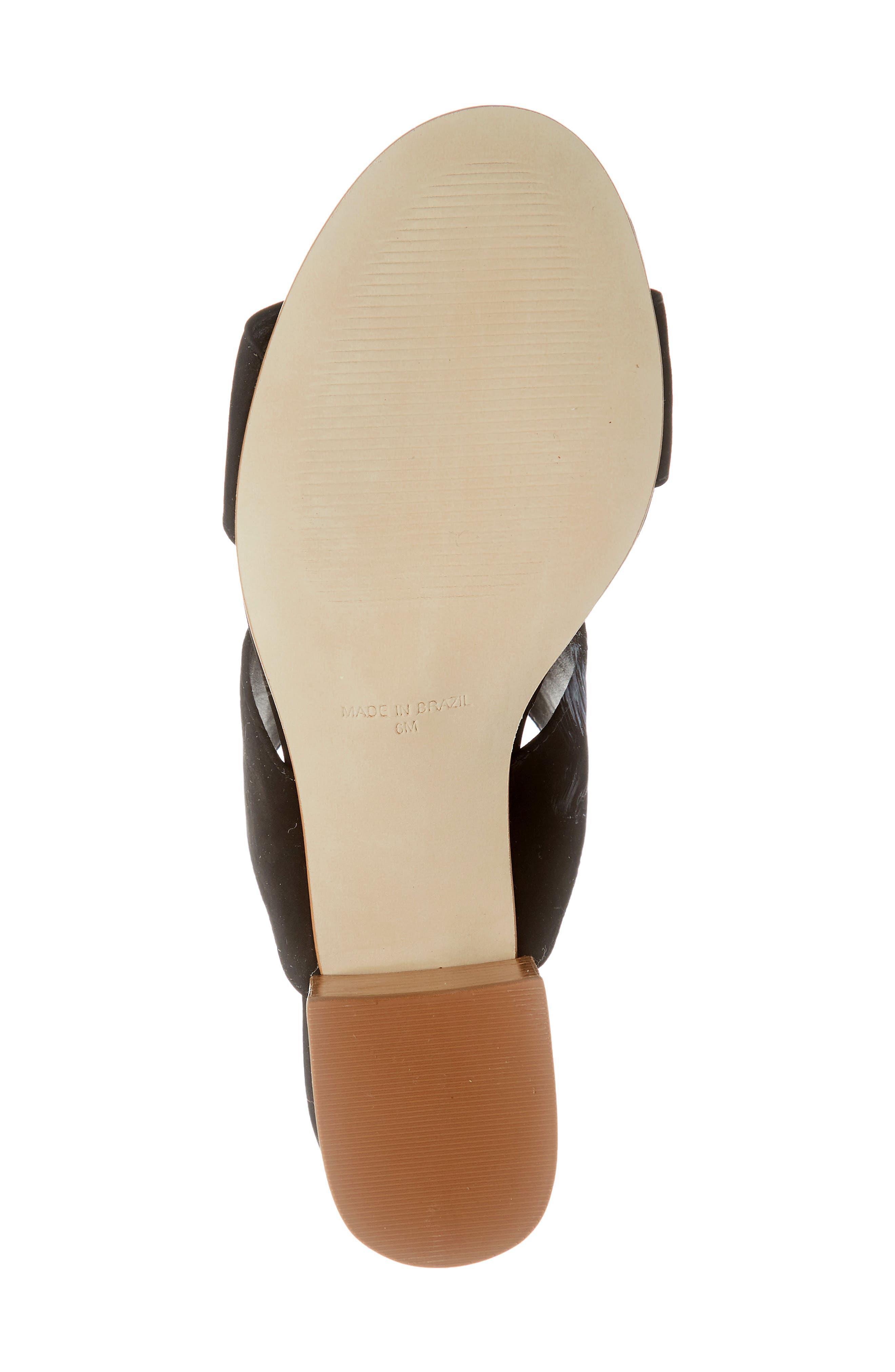 ,                             Ilena Block Heel Slide Sandal,                             Alternate thumbnail 7, color,                             BLACK