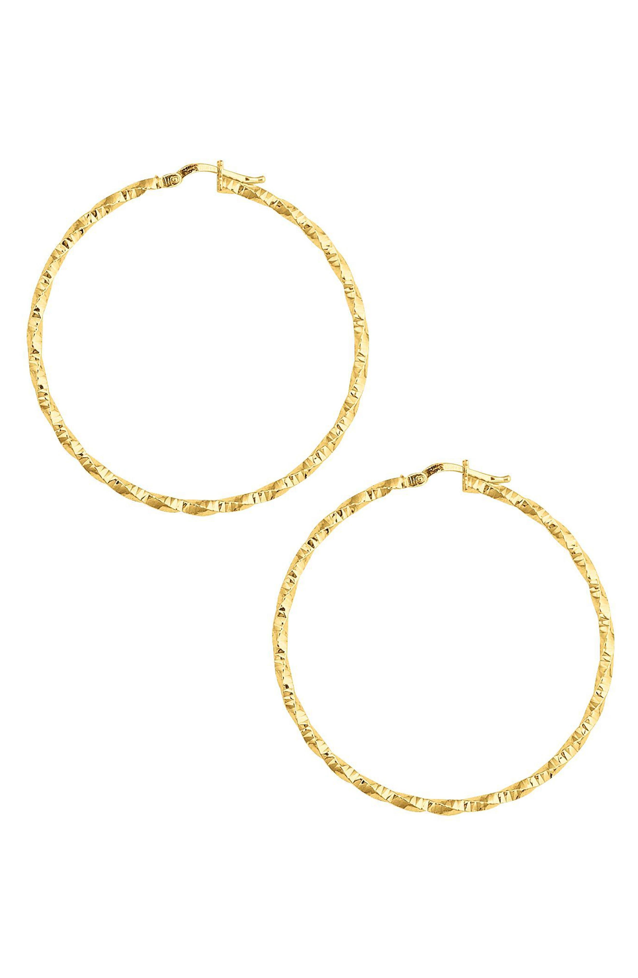 Texture Twist Hoop Earrings