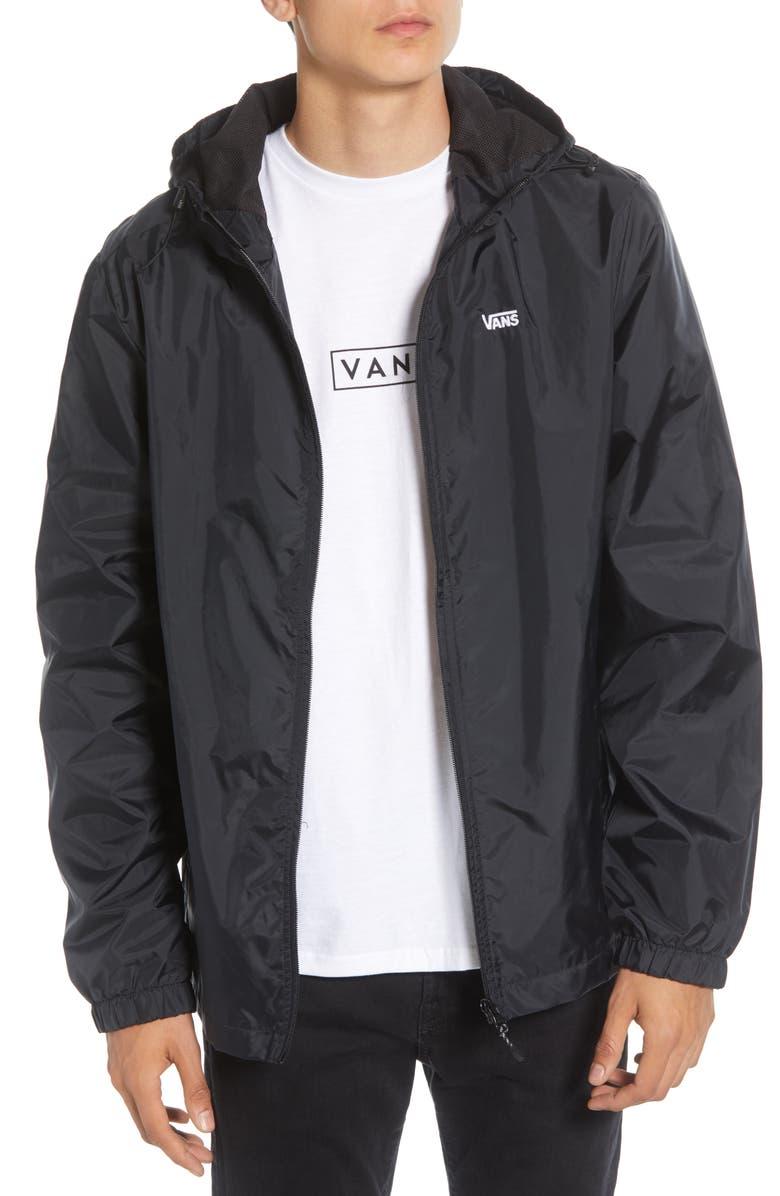 VANS Garnett Water Resistant Hooded Jacket, Main, color, BLACK