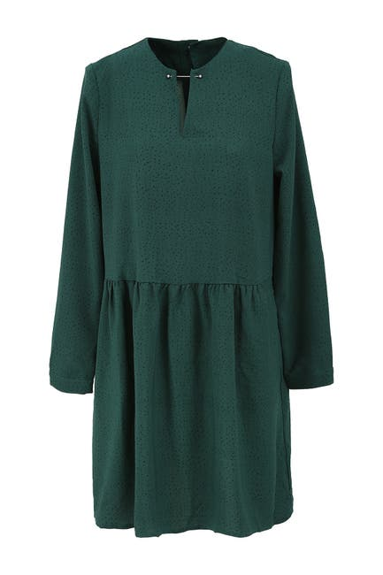 Image of FRNCH Long Sleeve Spotted Short Dress