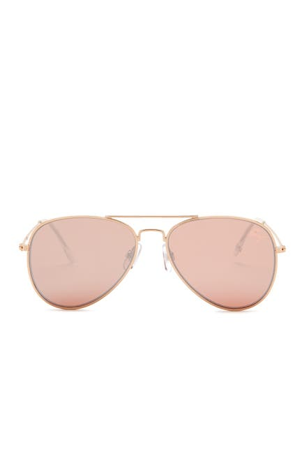 Image of Betsey Johnson Women's Flat Aviator Sunglasses
