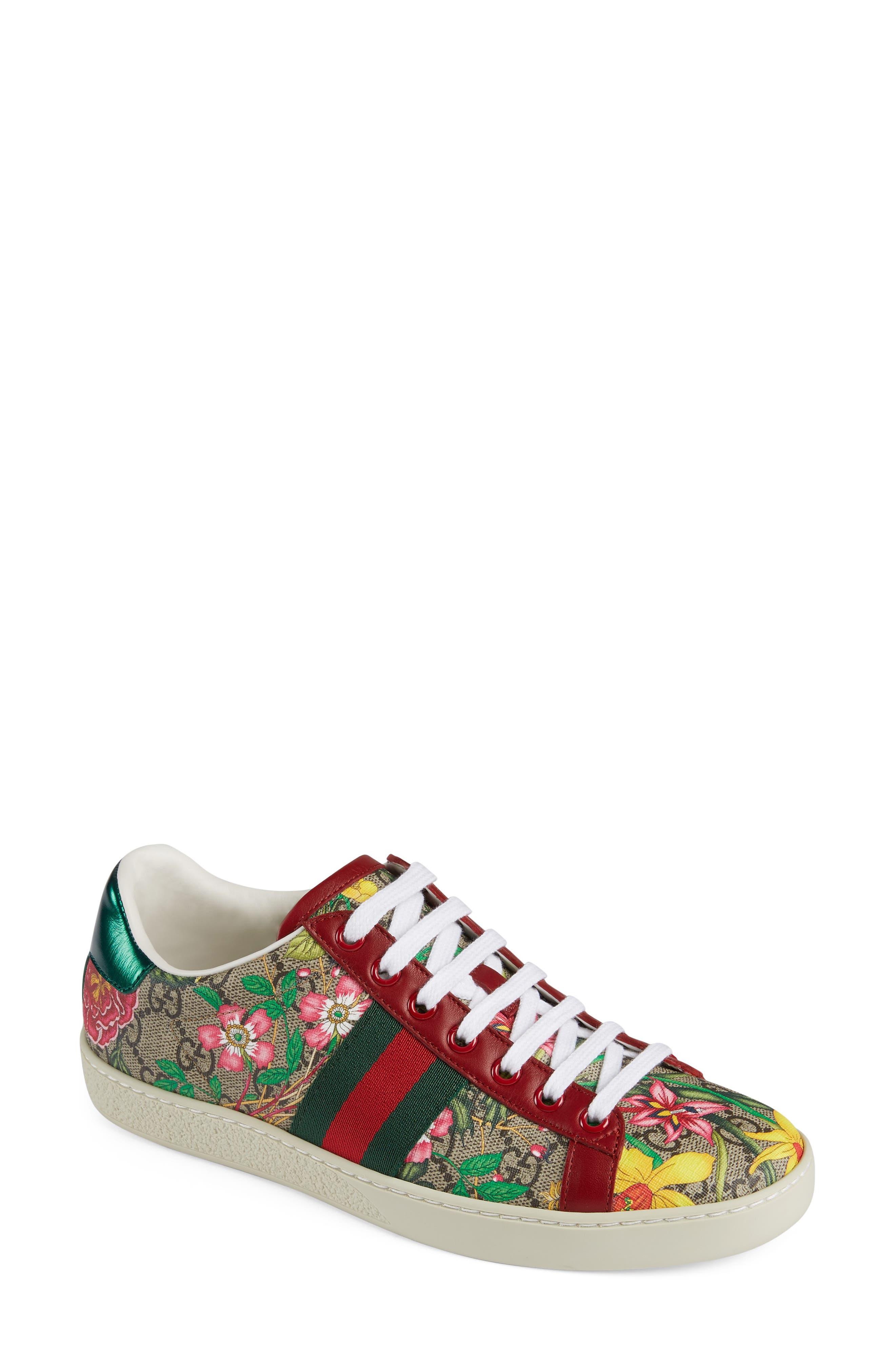 Gucci New Ace GG Supreme Floral Sneaker