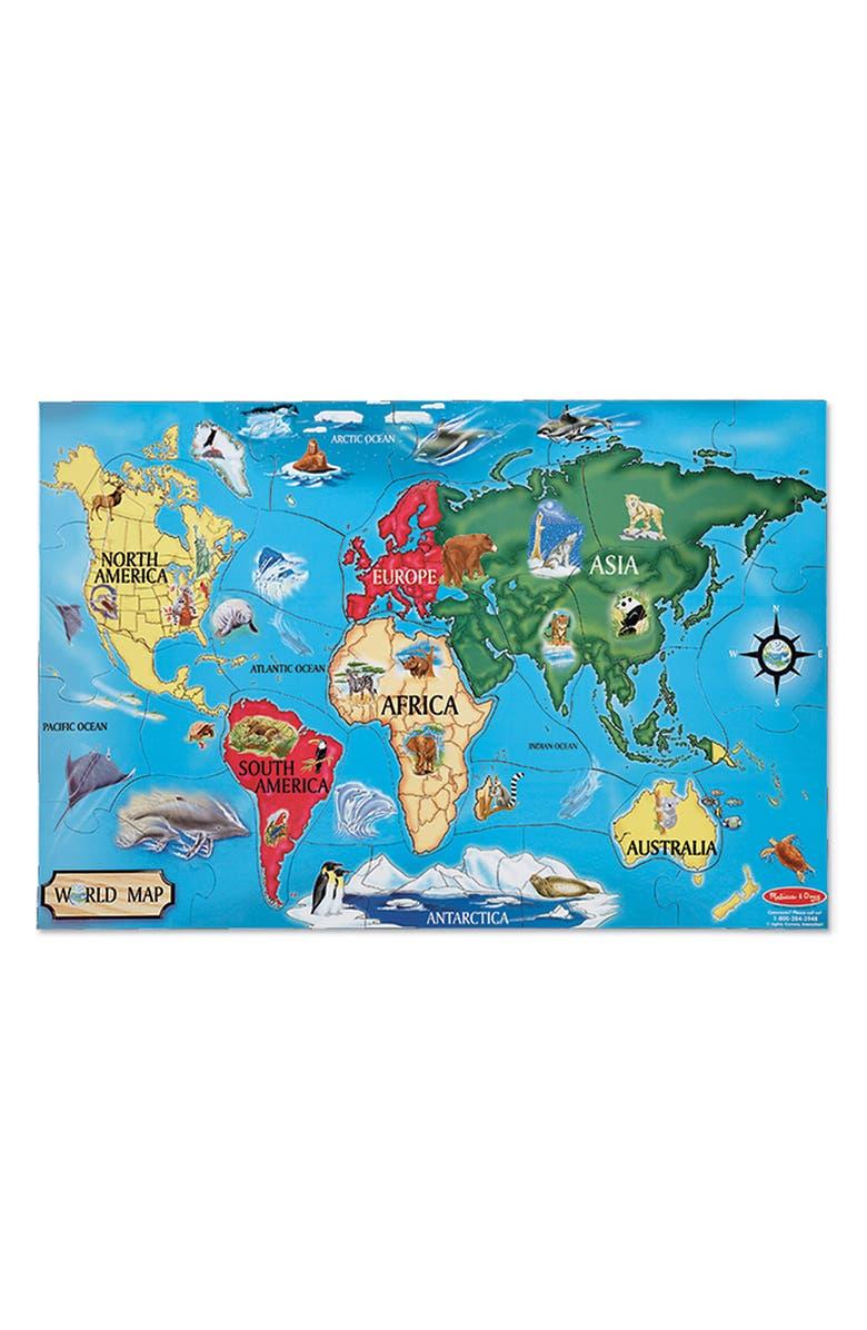 MELISSA & DOUG Floor Puzzle & Peg Puzzle Bundle, Main, color, MULTI