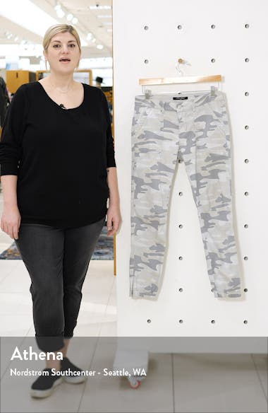Ivy Grey Camo Stretch Cotton Utility Pants, sales video thumbnail
