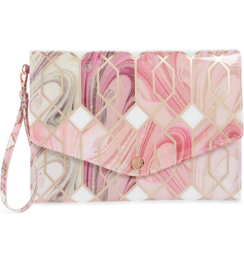 TED BAKER LONDON Sea of Clouds Envelope Clutch, Main, color, 110