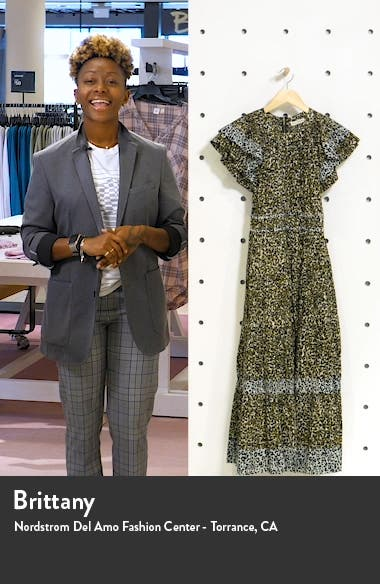 Iona Cheetah Print Midi Dress, sales video thumbnail