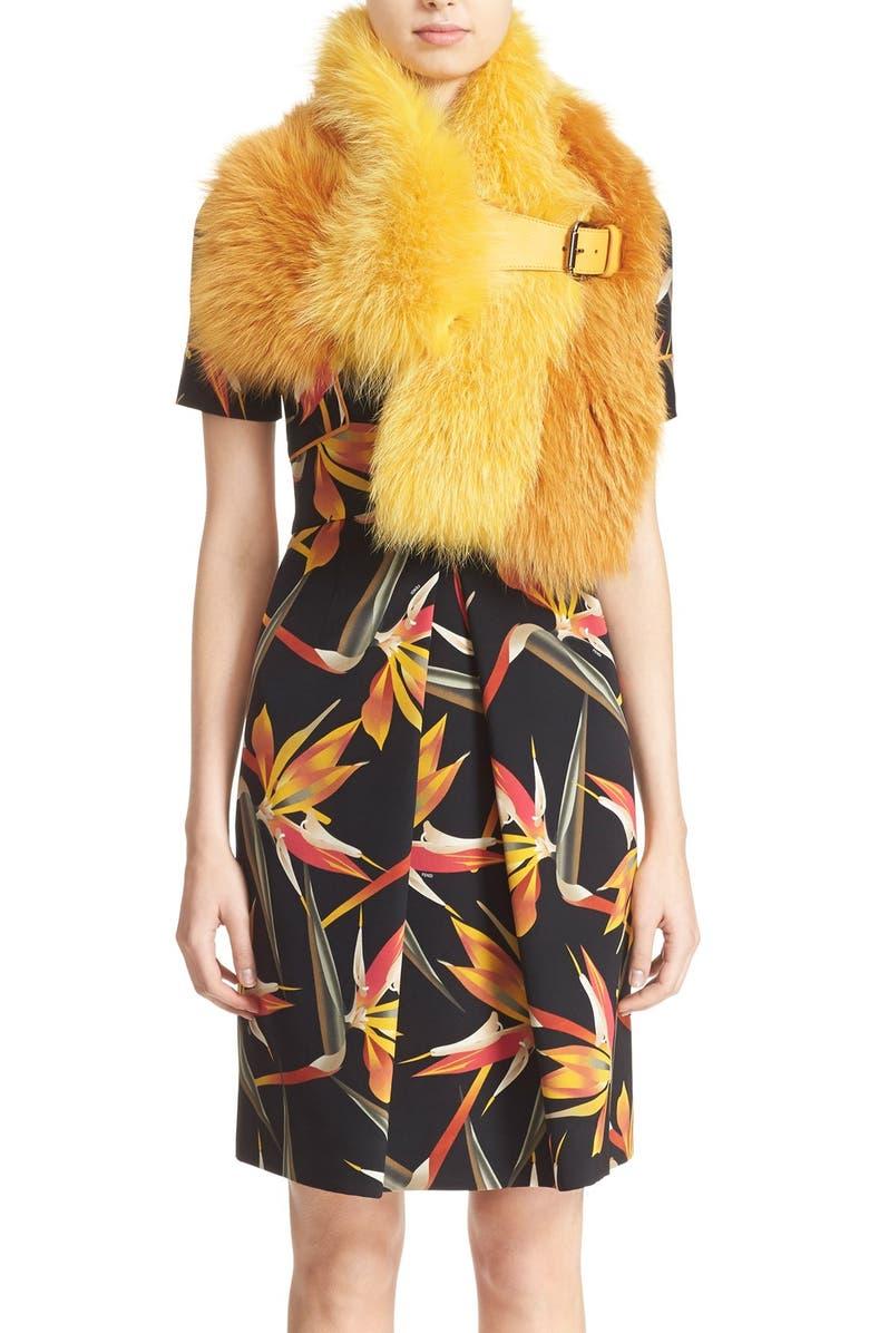 831c9078 Fendi Bird of Paradise Print Short Sleeve Silk Dress   Nordstrom