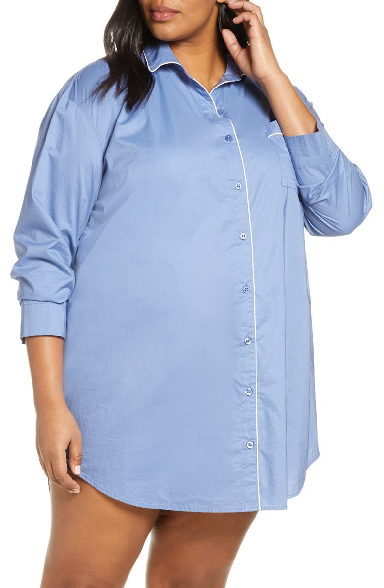 NORDSTROM Lingerie Classic Cotton Nightshirt, Main, color, 450